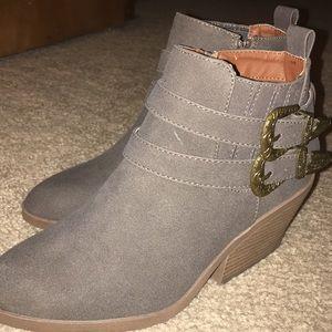 Brand New Gray Booties